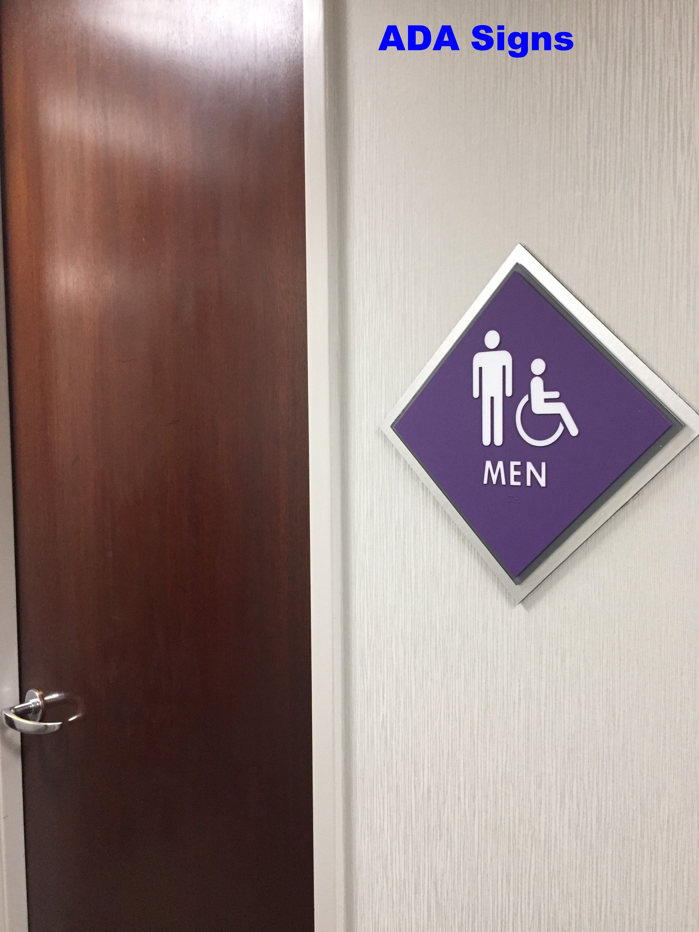 Custom ADA Men Sign
