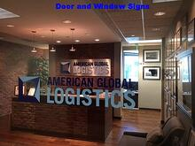 Lobby Sign and Window Graphics