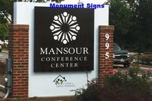 Mansour Monument Sign