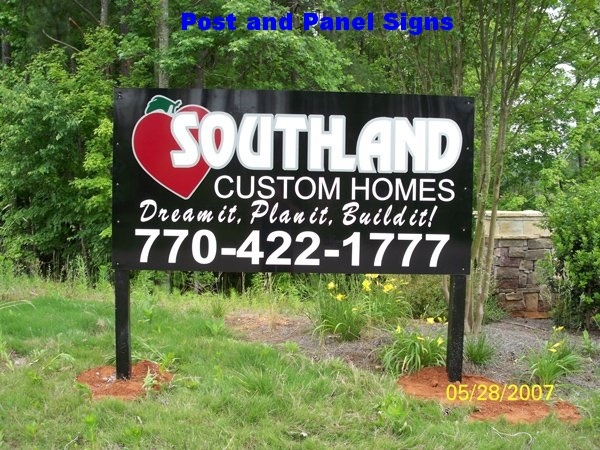 Post and Panel Sign