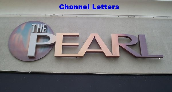 Reverse Lit Halo The Pearl Channel Letters