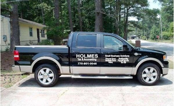 Vehicle Graphics - Holmes Tax