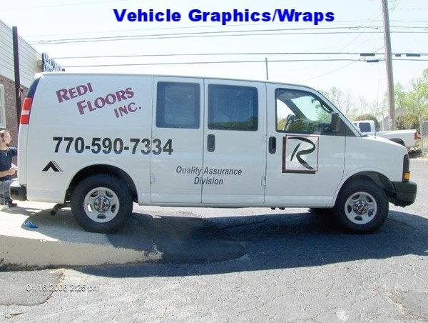 Vehicle Graphics - Redi Floors Van