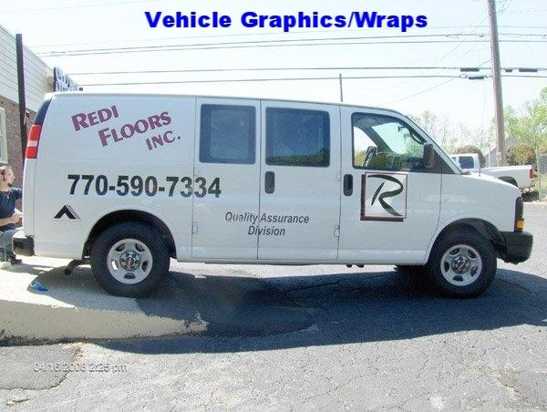 Vehicle Graphics - Redi Floors Van